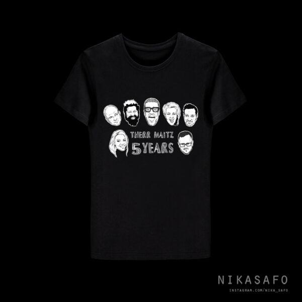 therrmaitz-tshirt-5years-black